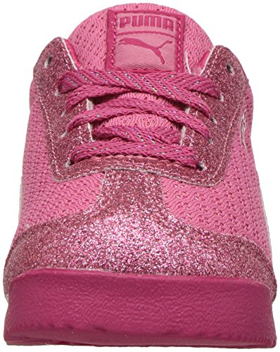 PUMA Baby Roma Glitz Glamm Mesh Kids Sneaker, Rapture Rose-Rapture Rose, 6 M US Toddler