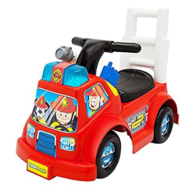 Fisher-Price Little People Fire Truck Ride On: Toys & Games