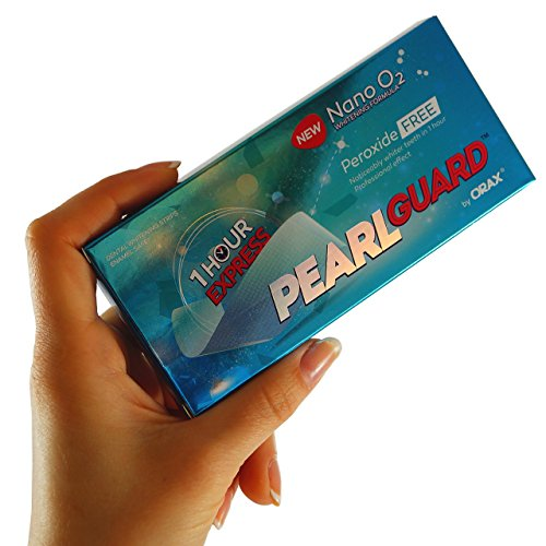 Peroxide Free Teeth Whitening Strips - UK & EU Approved - 100% Moneyback Guarantee - 1 Hour Express Advanced Home Whitening Kit - PearlGuard Premium Whitestrips include only NATURAL Ingredients - ZERO Hydrogen Peroxide for a White & Healthy Smile - 28 Strips - Full 14 Days Course - Safe for Sensitive Teeth - No need for bleaching at the dentist, using trays, gel, toothpaste & other products - Safer than popular tooth bleaching products, whitener kits, pens & other tooth bleach whitening systems