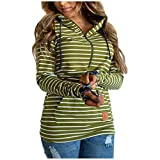 Womens Casual Hoodies Striped Printed Sw...