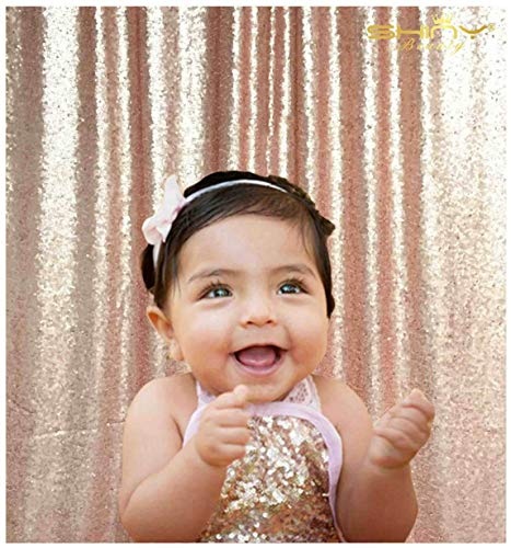 ShiDianYi 4FTX6FT-Blush-SEQUIN Photo Backdrop, Wedding Photo Booth,Photography Background