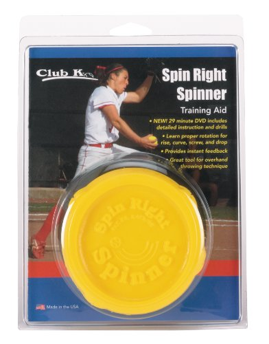 (Markwort Club K Spin Right Spinner Softball Training Aid, Yellow)