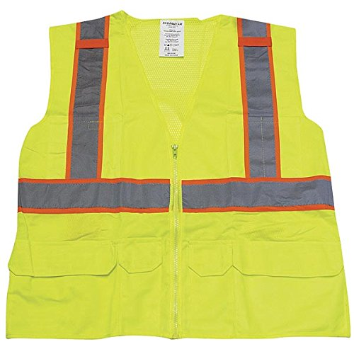 Ironwear 1277FR-L-03-LG ANSI Class 2 Flame Retardant Polyester Mesh SAFETY Vest with 2