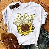 Women T-Shirt Casual Summer Short Sleeve Tee