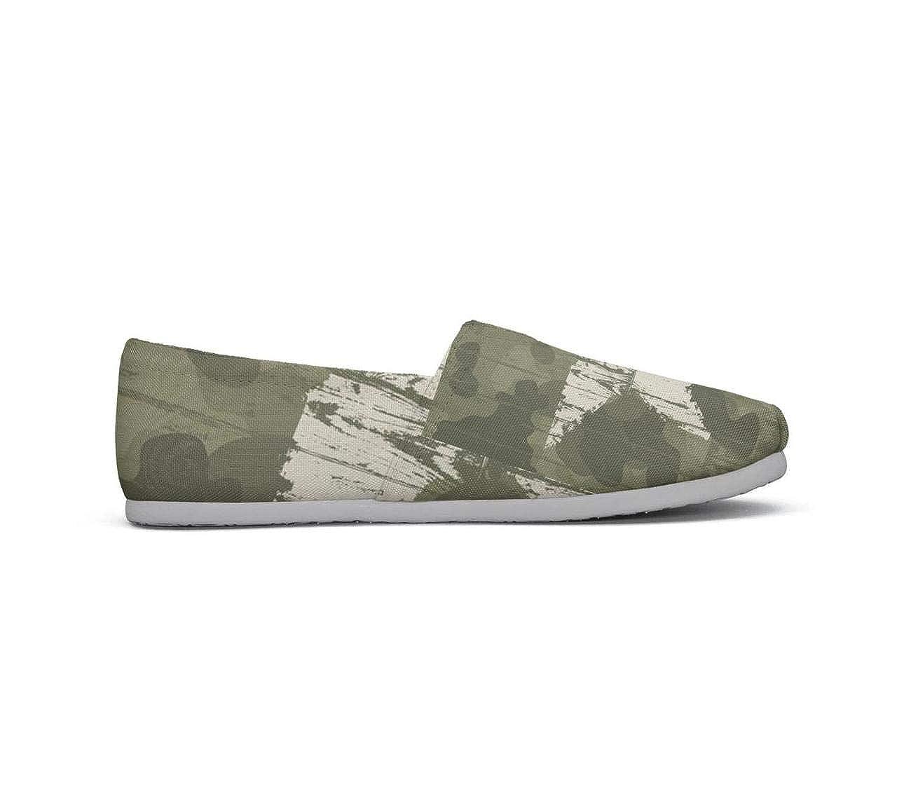 nkfbx Western Khaki Camouflage Fashion Flat Trainers for Girls Walking