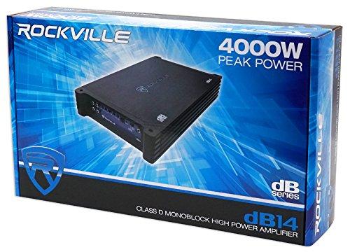 Rockville dB14 4000 Watt/2000w RMS Mono Class D 2 Ohm Amplifier Car Audio Amp by Rockville (Image #7)