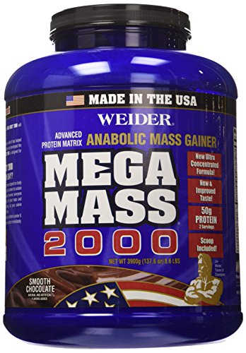 Weider Mega Mass 2000, Smooth Chocolate, 8.6 Pound