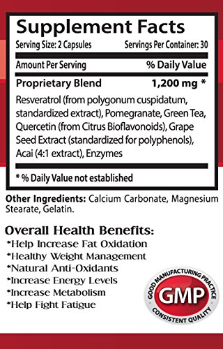 Resveratrol with red wine extract - RESVERATROL SUPREME 1200MG - promote overall health 3 Bottles Discount