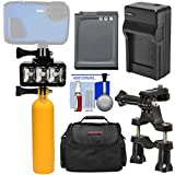 Precision Design WPL40 Waterproof Underwater Diving LED Video Light + Buoy + Bike Mount + Battery & Charger + Case Kit for Nikon Keymission 360, 170 Coolpix AW130, W300 Cameras