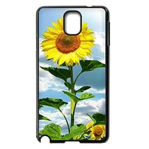 Diy Beautiful Sunflower Phone Case for samsung galaxy note 3 Black Shell Phone JFLIFE(TM) [Pattern-1]