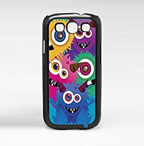 Colorful Monsters on Blue Background Background Hard Snap on Phone Case (Galaxy s3 III)