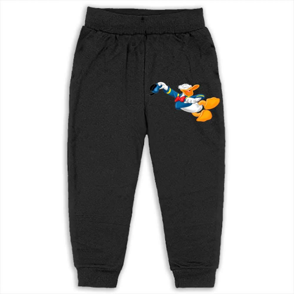 Pants Kids Boys Sweatpants Jogger Sport Trousers Donald Duck 2T_Black