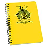 "Rite in the Rain All-Weather Side-Spiral Notebook, 4 5/8"" x 7"", Yellow Cover, Birder's Journal (No. 195)"