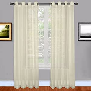 Warm Home Designs Sheer Window Curtains With