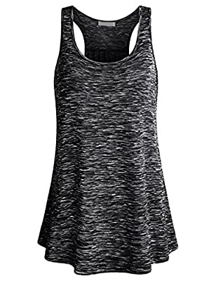 Uniboutique Womens Sleeveless Loose Fit Workout Yoga Racerback Tank Top