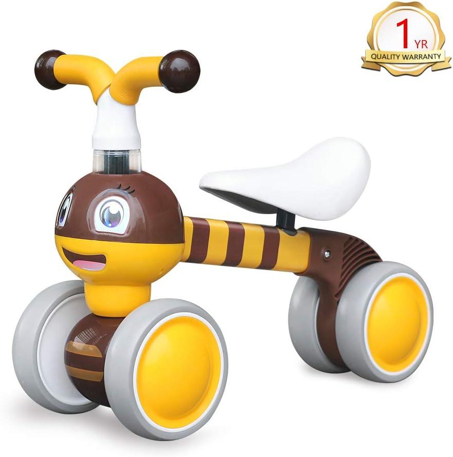 YGJT Bicicletas sin Pedales para niños 1 Año(10-36 Meses) Triciclos Bebes Correpasillos Juguetes Regalos bebé Bici sin Pedales niño (Abeja Linda) (Pequeña Abeja) (Pequeña Abeja)