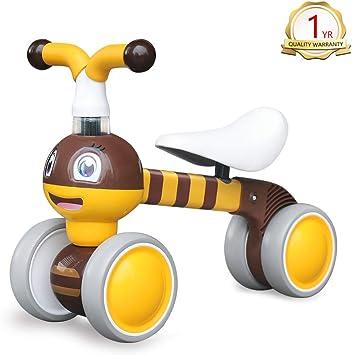 YGJT Bicicletas sin Pedales para niños 1 Año(10-36 Meses) Triciclos Bebes Correpasillos Juguetes Regalos bebé Bici sin Pedales niño: Amazon.es: Juguetes y juegos