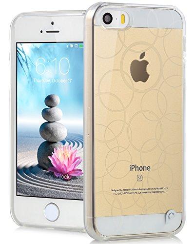 Fosmon DURA TPU Entwurf Case Cover hülle für iPhone 5 / 5s / SE - Multi-Circle - Klar