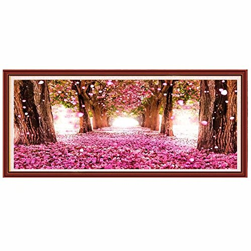 FlowerBeads Full 5D DIY Diamond Painting Romantic Cherry Blossom Tree Rhinestone Embroidery Mosaics Cross Stitch Kit Wall Decor Home Craft