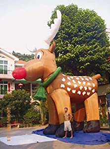 Cyana TOP NEW 26u0027 Inflatable Reindeer Christmas Holiday Decoration Most  Popular Design With Blower