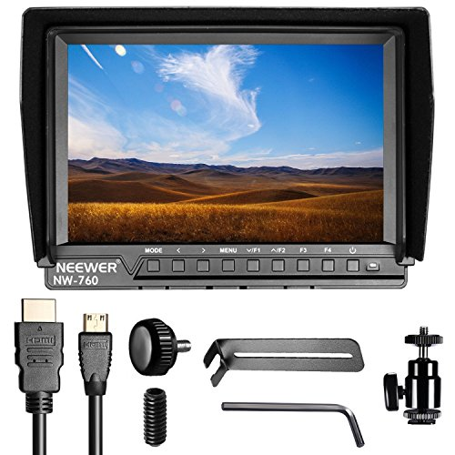 Neewer-NW-760-Field-Monitor-Ultra-thin-7-inches-IPS-Screen-1080P-Full-HD-1920x1200-support-4k-input-HDMI-with-Histogram-Focus-Assist-Overexposure-Prompting-1610-Display-Ratio-for-DSLR-Camera