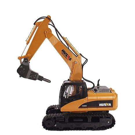 LXWM RC Excavadora 2.4G 1/14 16 CH Excavadora de Ruedas de Metal Desmontaje