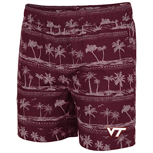 Colosseum Mens Virginia Tech Hokies Maui Swim Shorts - L