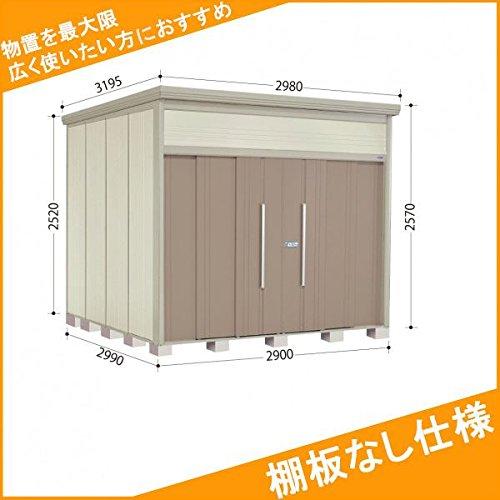 タクボ物置 JN/トールマン 棚板なし仕様 JN-2929 一般型 標準屋根 『屋外用中型大型物置』 カーボンブラウン B074X2MWHL