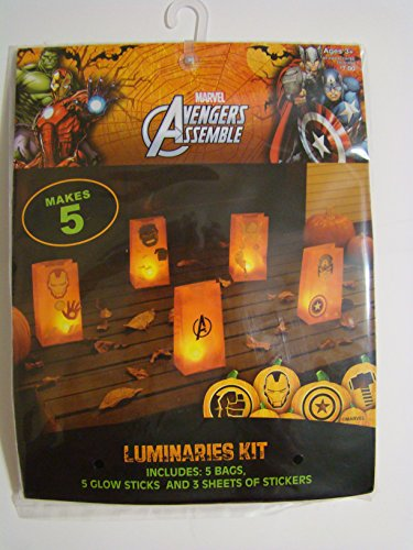 Marvel Avengers Assemble Luminaries Kit (makes 5)