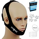 Anti Snoring Chin Strap Devices and Nose Vent Set | Snoring Solution | Comfortable Stop Snore Stopper Aids for Men and Woman | Sleep Adjustable Straps to Shut Mouth | No Roncar Jaw Support | Madrisqui