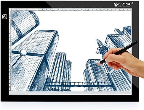 ESYNiC Mesa de Dibujo A4 LED Tablet con 3 Tipos de Luminosidad ...