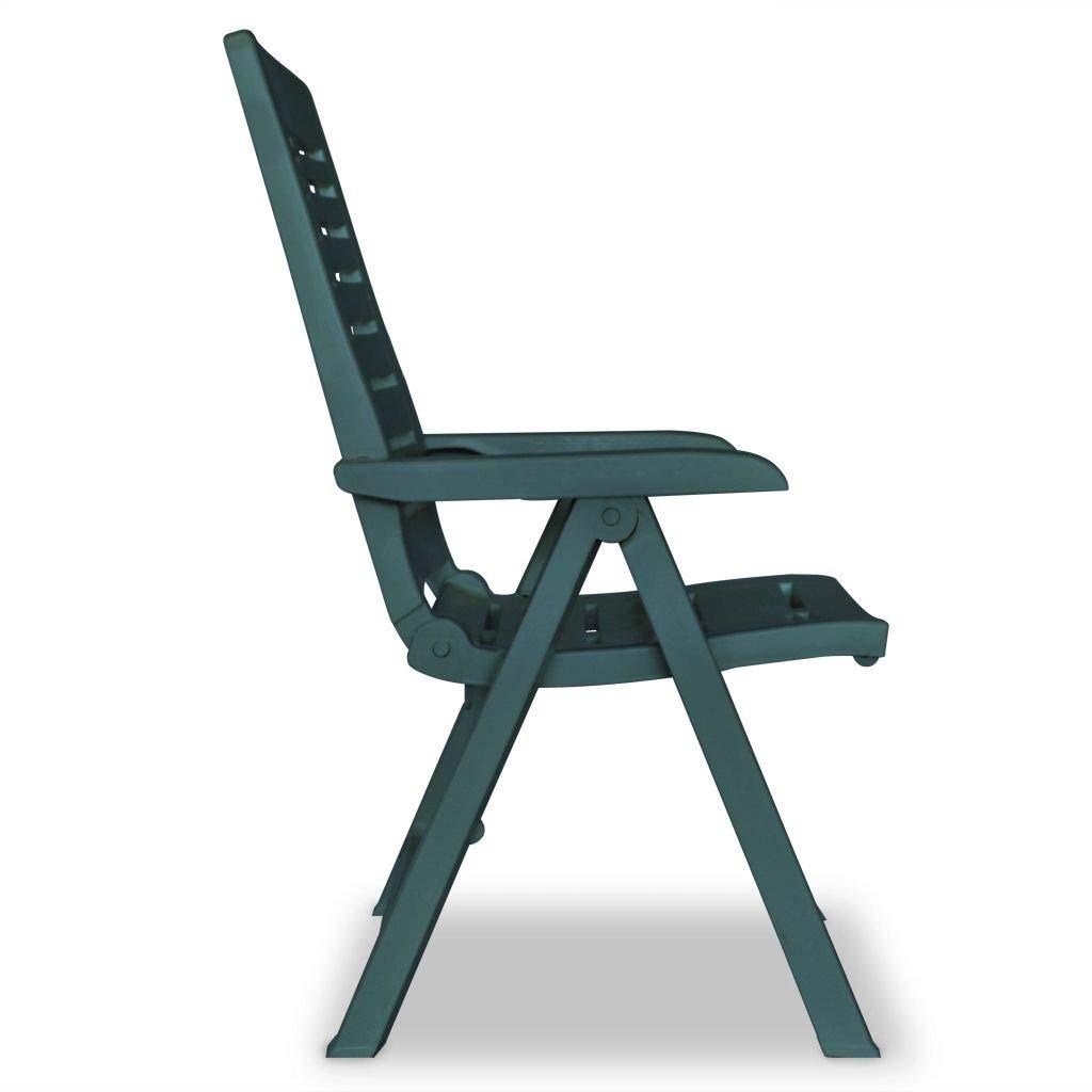 Mobilier de jardin vidaXL 2X Chaise Inclinable de Jardin Plastique ...
