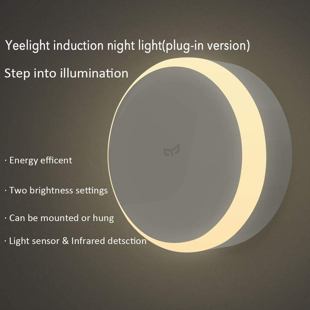 Adecuado para Xiaomi Mijia Smart LED - Luz nocturna infrarroja con mando a distancia y sensor de movimiento, luminosidad ajustable para Smart Home