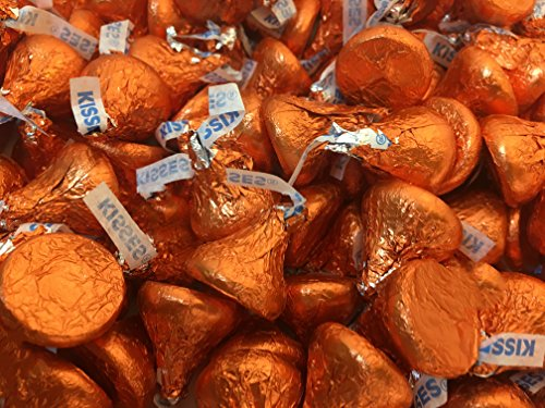 Hershey's Kisses, Milk Chocolate in Orange Foil (Pack of 2 (Hershey Kisses In Bulk)