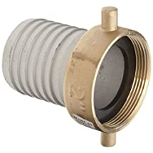 """Dixon FAB200 Aluminum Hose Fitting, King Short Shank Suction Coupling with Brass Nut, 2"""" NPSM Female x 2"""" Hose ID Barbed"""