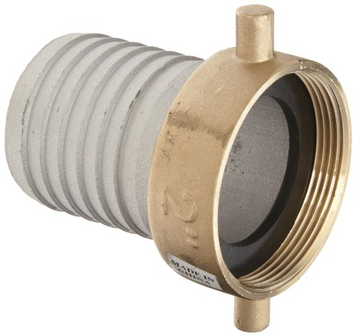 Dixon FAB200 Aluminum Hose Fitting, King Short Shank Suction Coupling (2in Male Threaded Connectors)