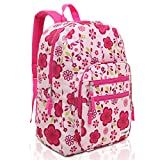 MGgear Pink/Purple Spring Flowers Pattern Daypack Backpack/School Bag