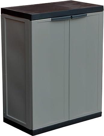 ASAB - Gabinete de Almacenamiento para Garaje de jardín (tamaño Mediano, de plástico, para Interiores y Exteriores, con Cerradura, 85 x 65 cm, tamaño estándar): Amazon.es: Hogar