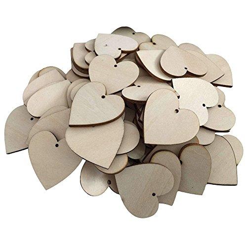 Foerteng Wood Hearts , Small Unfinished Cutout Shape Love Wo