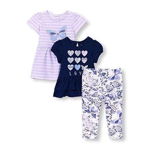Sleepwear Butterfly - The Children's Place Baby Girls Playwear Bundle, Lovely Lavender 0-3MONTHS