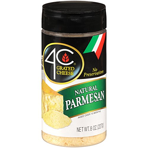 4C Parmesan Grated Cheese 8 oz. (Pack of 3)