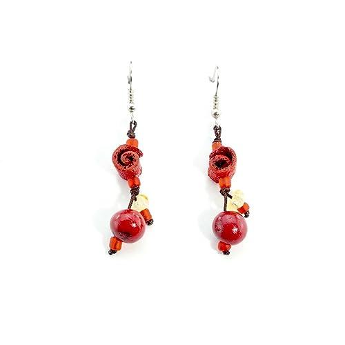 Handmade orange peel earrings