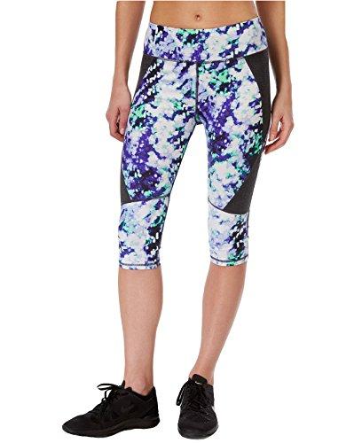 Calvin Klein Performance Women's Waterlily-Printed Capri Leggings (X-Large, Beach Plum Combo)