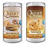 Quest Nutrition Quest Protein DxJQAr Powder, Multi Purpose/Peanut Butter 2lb Tub (1 of Each)