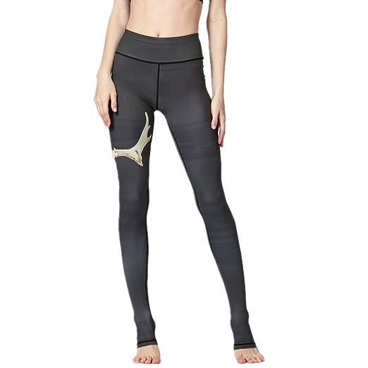 Wenzhihua Leggings Deportivos para Mujer Pantalones de Yoga ...