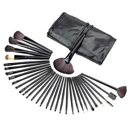 32PCS Mini Make Up Foundation Eyebrow Eyeliner Blush Cosmetic Concealer Brushes