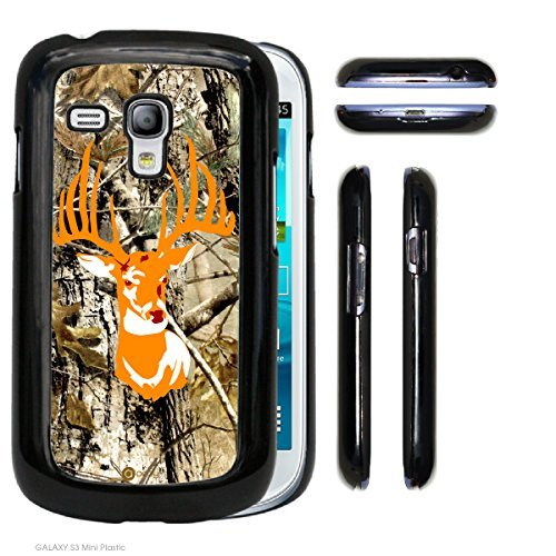 Accy Cases - Real Tree Camo Orange Buck Samsung [Galaxy S3 mini] Hard Snap on Plastic Cell Phone Cover (Samsung Galaxy S3 Mini Decal compare prices)