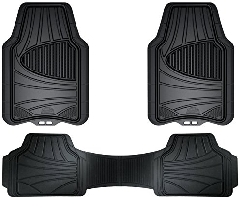Custom Accessories Armor All 78843 3-Piece Black Full Coverage Rubber Floor Mat