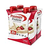 Premier Protein 30g Protein Shakes, Strawberries & Cream, 11 Fluid Ounces, 4 Count (Pack of 3)