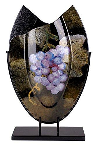 ジャスミンアートガラス楕円形花瓶20452 B0771R4NVT